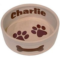 Personalised Large Ceramic Dog Bowl