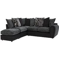 Product photograph showing Marrakesh Left Hand Single Arm Scatter Back Corner Group Sofa Footstool
