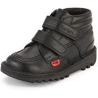 Kickers Toddler Kick Stylee Hi School Shoes, Black, Size 7