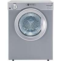 White Knight C37As 3Kg Load Compact Vented Dryer - Silver