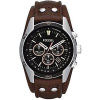 Fossil Mens Chronograph Cuff Watch From The Coachman Range, Men