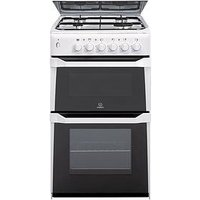 Indesit Itl50Gw 50Cm Twin Cavity Gas Cooker With Fsd