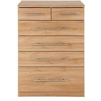 Product photograph showing Prague 4 2 Graduated Chest Of Drawers