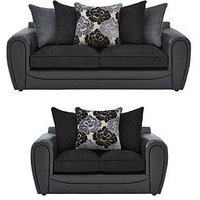 Monico 3 Seater + 2 Seater Scatter Back Sofa Set (Buy And Save!)