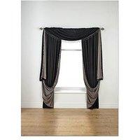 Laurence Llewelyn-Bowen Grande Finale Faux Silk Reversible Slot Top Curtains