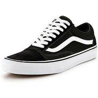 Vans Old Skool - Black/White, Black/White, Size 11, Women