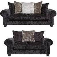 Laurence Llewelyn-Bowen Scarpa 3 Seater + 2 Seater Fabric Scatter Back Sofa Set (Buy And Save!)