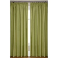 Canvas Lightweight Pencil Pleat Unlined Curtains