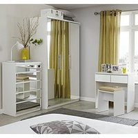 Product photograph showing Prague Mirror Dressing Table And Stool
