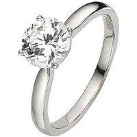 Love DIAMOND 18 Carat White Gold 1 Carat Certified Diamond Solitaire Ring, Size I, Women