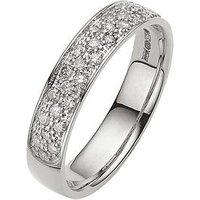 Love DIAMOND 9 Carat White Gold 28point Diamond Wedding Band - 4mm, Size N, Women