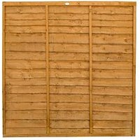 Forest Trade Lap Panel 6 X 6Ft Fence Panels (Pack Of 7)
