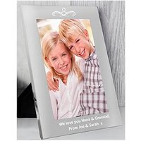 Product photograph showing The Personalised Memento Company Personalised Silver Photo Frame