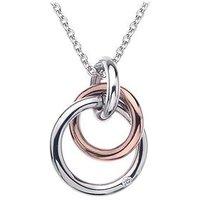 Hot Diamonds Eternity Sterling Silver And 18 Carat Gold Vermeil Diamond Set Interlocking Pendant, Women