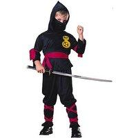 Boys Black Ninja - Child Costume, Multi, Size Age: 5-7, Women