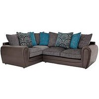 Product photograph showing Gatsby Left Hand Double Arm Corner Group Sofa