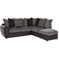 Product photograph showing Gatsby Right Hand Single Arm Corner Chaise Sofa Footstool