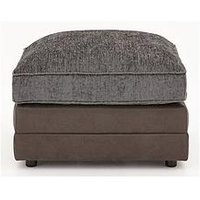 Product photograph showing Gatsby Chenille And Faux Snakeskin Footstool