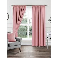 Product photograph showing Woven Pleated Blackout Curtains