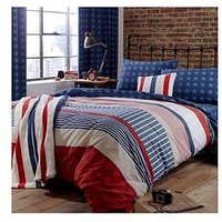 Product photograph showing Catherine Lansfield Stars And Stripes Duvet Cover Set