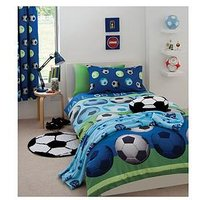 Catherine Lansfield Football Duvet Cover Set, Red, Size Single