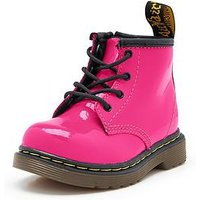 Dr Martens Brooklee B Patent Boots, Black, Size 3 Younger