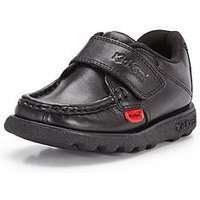 Kickers Younger Fragma School Shoes, Black, Size 7 Younger