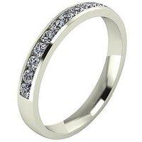Moissanite 33 Point Moissanite 9 Carat White Gold Channel Set Eternity Ring, Size Z, Women
