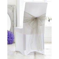 Organza Chair Bows (6 Pack), Chocolate, Women