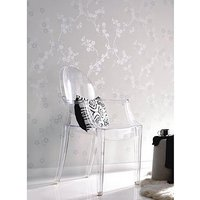 Product photograph showing Superfresco Texture Pearl Collection Cherry Blossom White Wallpaper