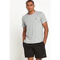 Polo Ralph Lauren Mens Single Logo T-shirt, Grey Melange, Size L, Men