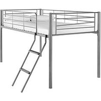 Kidspace Domino Mid Sleeper Bed  - Mid Sleeper Only, Silver