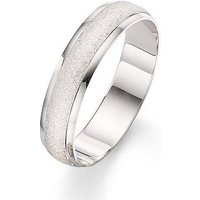 Love GOLD 9 Carat White Gold 5mm Patterned Wedding Band, Size S, Women
