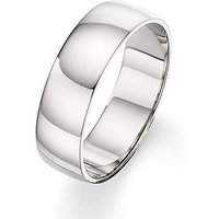 Love GOLD Palladium 6 mm D-shape Wedding Band, Size Q, Women
