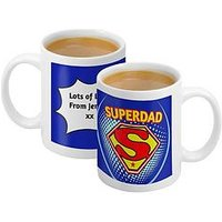 Personalised Super Dad Mug, Women