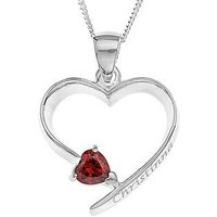 Love Gem Personalised Sterling Silver Birth Stone Heart Pendant - October, Women