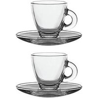 Product photograph showing Ravenhead Entertain Set Of 2 Espresso Cups And Saucers