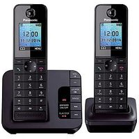 Panasonic Tgh-222Eb Cordless Telephone With Answering Machine And Nuisance Call Block - Twin