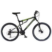 Muddyfox Livewire Dual Suspension Mens Mountain Bike 18 Inch Frame, Men