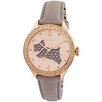 Radley The Great Outdoors Stone-Set Dog Dial Rose Gold Plated Ladies Watch, Women