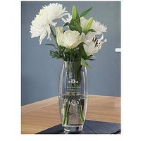 Product photograph showing Personalised Floral Design Barrel Vase