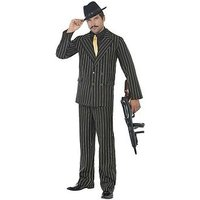 Gold Pinstripe 1920's Gangster - Adult Costume, Size Xl, Women