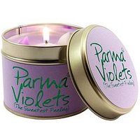 Lily-Flame Parma Violets Tin Candle