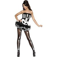 Halloween Fever Skeleton and Skeleton Tights - Adult Costume, Size Xs, Women