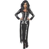 Halloween Skeleton Tube Dress - Adult Costume, Size S, Women