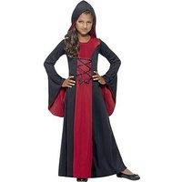 Halloween Girls Hooded Vampiress - Child Fancy Dress Outfit
