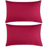 Non Iron Percale 180 Thread Count Housewife Pillowcases (Pair)