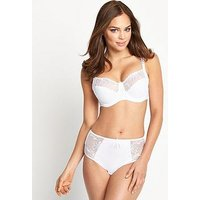 Pour Moi POUR MOI IMOGEN ROSE EMBROIDERED BALCONETTE BRA, White, Size 42Hh, Women