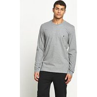 Polo Ralph Lauren Mens Long Sleeve Crew Tee, Heather Grey, Size Xl, Men
