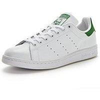 adidas Originals Stan Smith Mens Trainers, White/Green, Size 12, Men